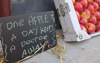 Кураж-базар и яблоки